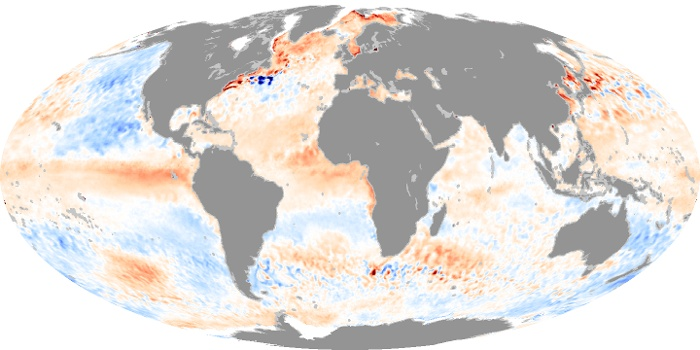 Global Map Sea Surface Temperature Anomaly Image 55