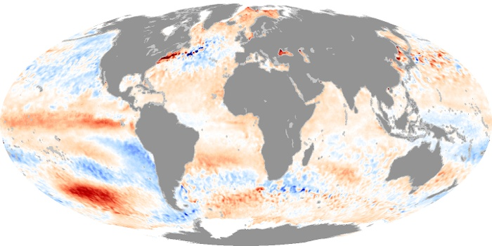 Global Map Sea Surface Temperature Anomaly Image 91