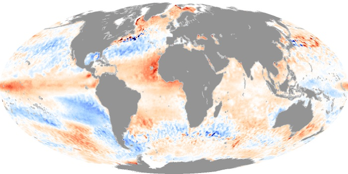 Global Map Sea Surface Temperature Anomaly Image 93