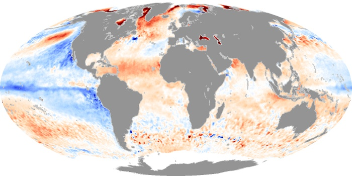 Global Map Sea Surface Temperature Anomaly Image 98