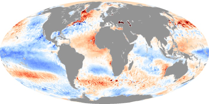Global Map Sea Surface Temperature Anomaly Image 103