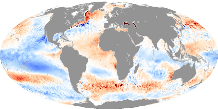 Global Map Sea Surface Temperature Anomaly Image 104