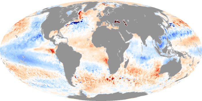 Global Map Sea Surface Temperature Anomaly Image 107