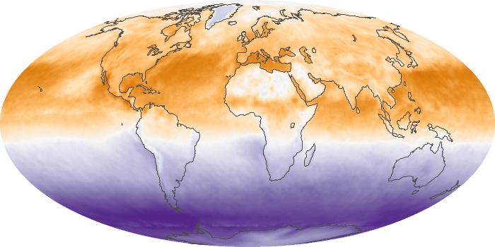 Global Map Net Radiation Image 1