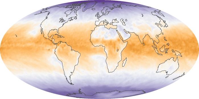 Global Map Net Radiation Image 3