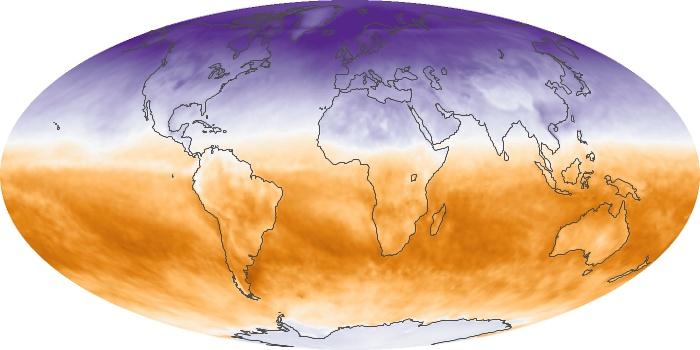 Global Map Net Radiation Image 7