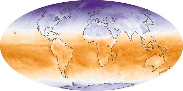Global Map Net Radiation Image 8