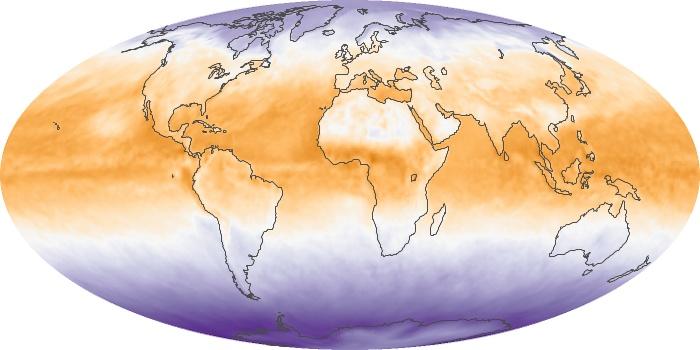 Global Map Net Radiation Image 10