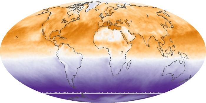 Global Map Net Radiation Image 12