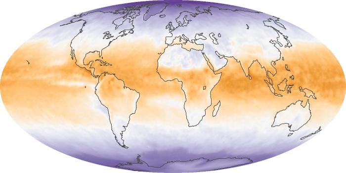 Global Map Net Radiation Image 15
