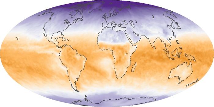 Global Map Net Radiation Image 16