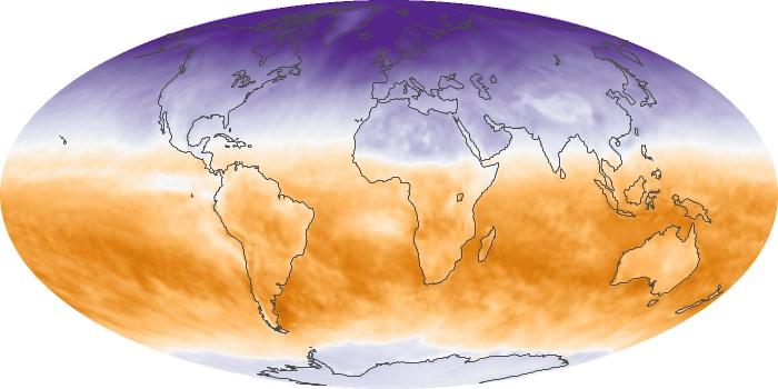 Global Map Net Radiation Image 17