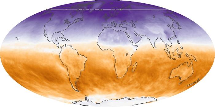 Global Map Net Radiation Image 18