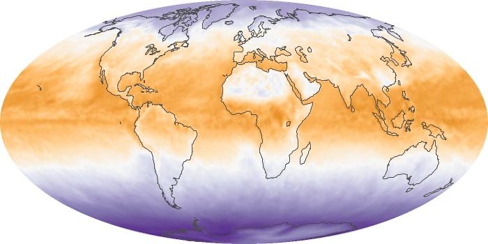 Global Map Net Radiation Image 22