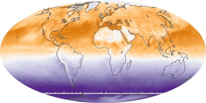 Global Map Net Radiation Image 24