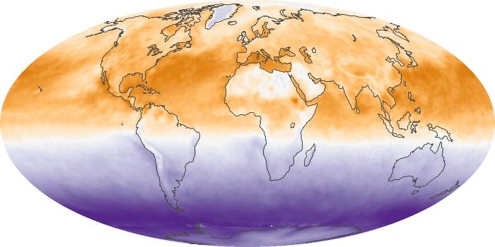 Global Map Net Radiation Image 25