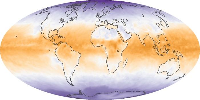 Global Map Net Radiation Image 27