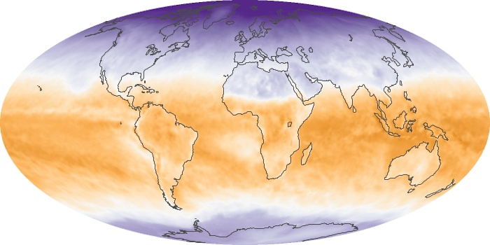 Global Map Net Radiation Image 28