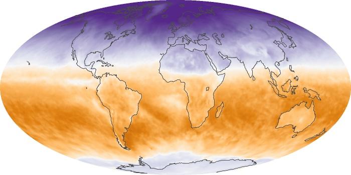Global Map Net Radiation Image 29
