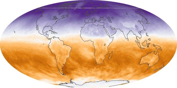 Global Map Net Radiation Image 30