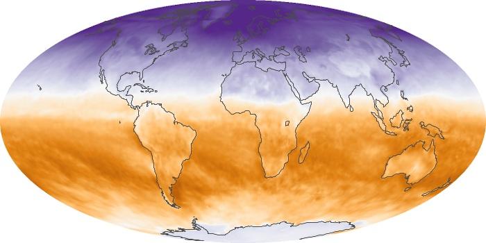 Global Map Net Radiation Image 31