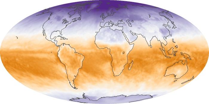 Global Map Net Radiation Image 32