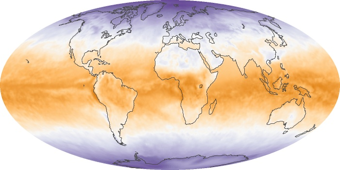 Global Map Net Radiation Image 33