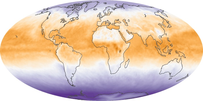 Global Map Net Radiation Image 34