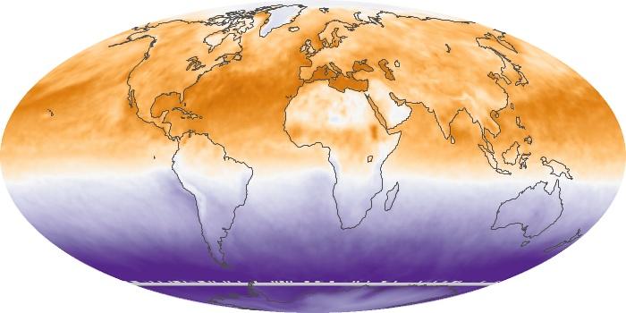 Global Map Net Radiation Image 36