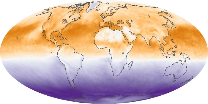 Global Map Net Radiation Image 37