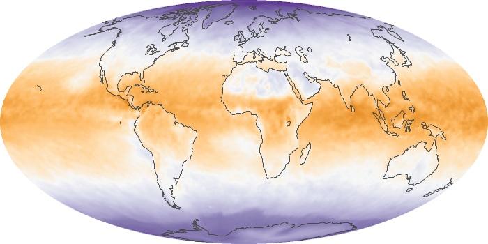 Global Map Net Radiation Image 39