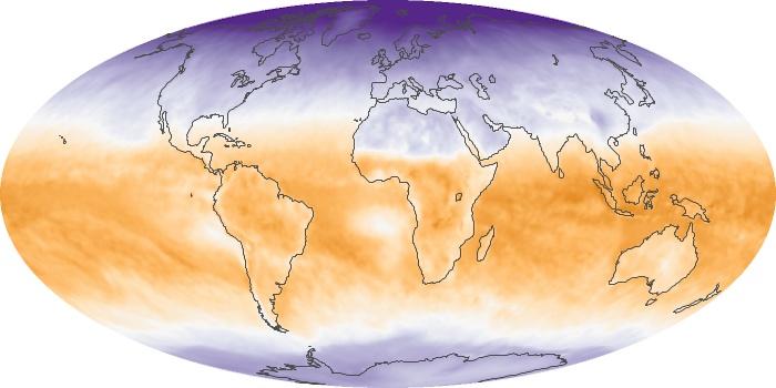 Global Map Net Radiation Image 40