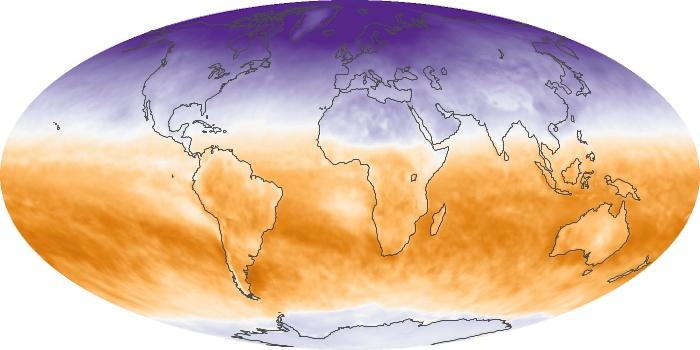 Global Map Net Radiation Image 41
