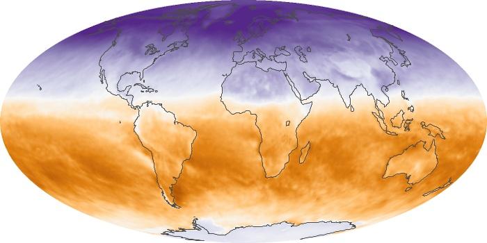 Global Map Net Radiation Image 43