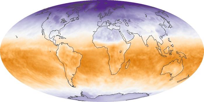 Global Map Net Radiation Image 44