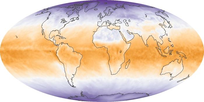 Global Map Net Radiation Image 45