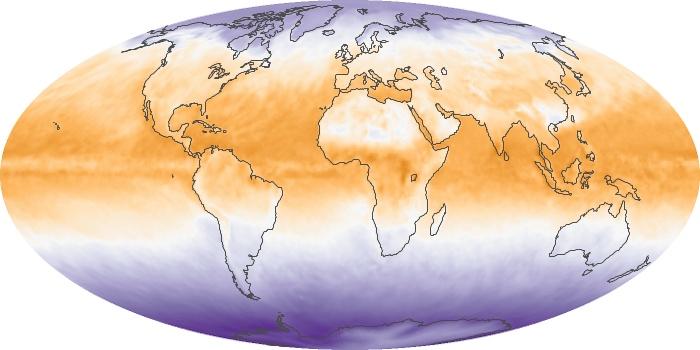 Global Map Net Radiation Image 46