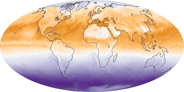 Global Map Net Radiation Image 47
