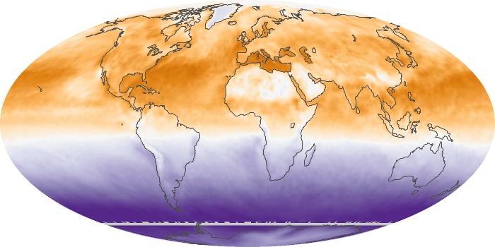 Global Map Net Radiation Image 48