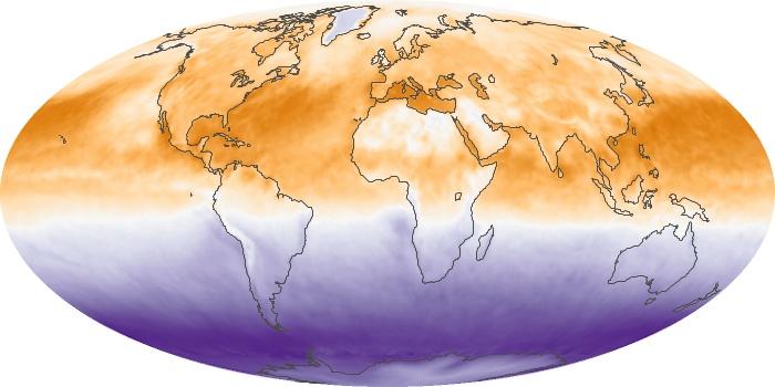Global Map Net Radiation Image 49