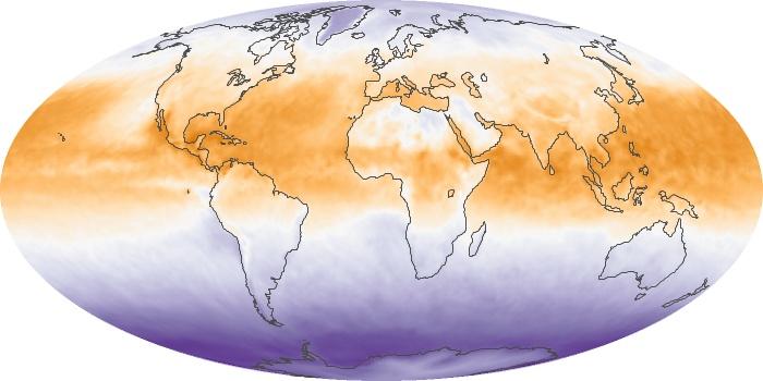Global Map Net Radiation Image 50