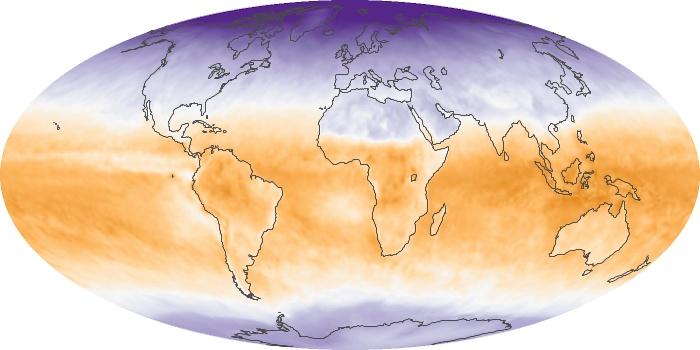 Global Map Net Radiation Image 52
