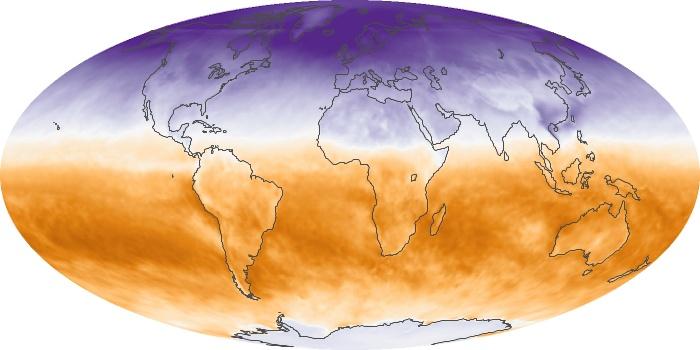 Global Map Net Radiation Image 55