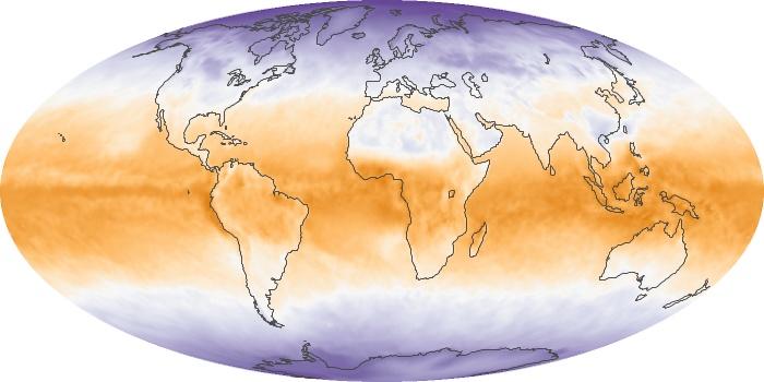 Global Map Net Radiation Image 57
