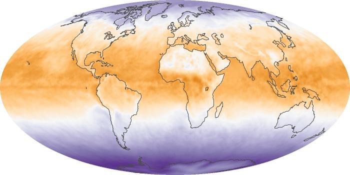 Global Map Net Radiation Image 58