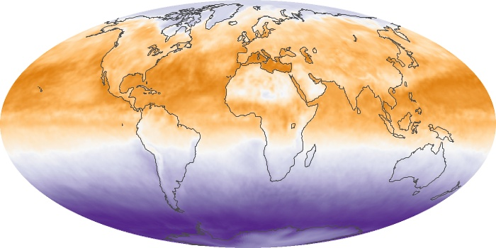 Global Map Net Radiation Image 59