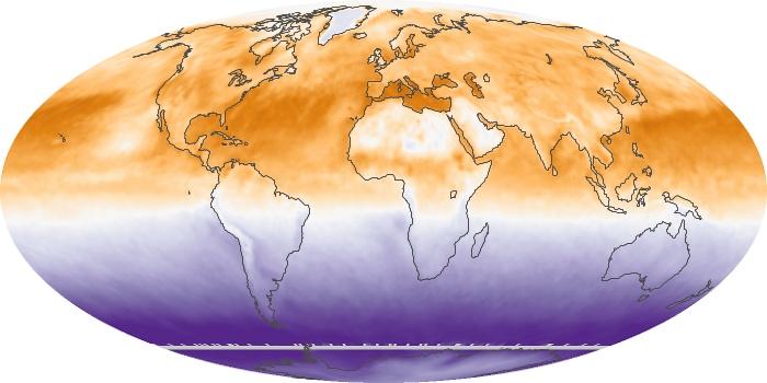Global Map Net Radiation Image 60