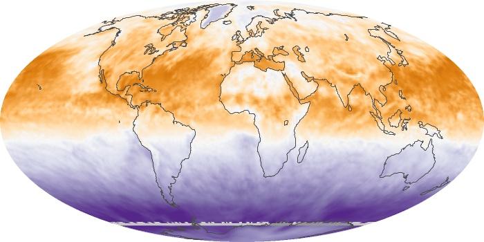Global Map Net Radiation Image 61