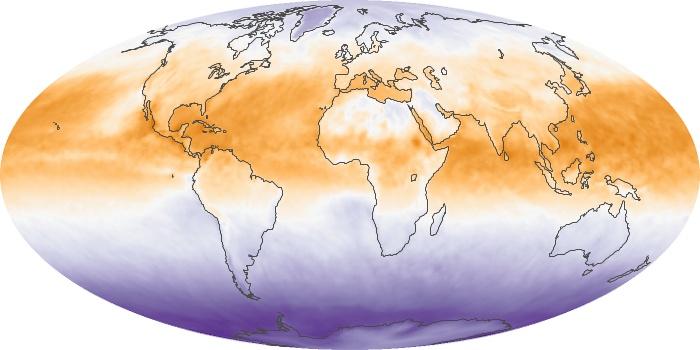 Global Map Net Radiation Image 62