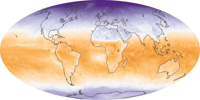 Global Map Net Radiation Image 64